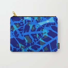 Blue Palm Shadows Carry-All Pouch