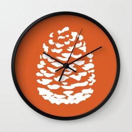 Pinecone Orange Wall Clock