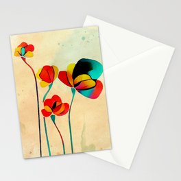Exotic Watercolor Flower Stationery Cards