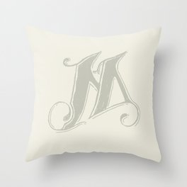 The Letter M (II) Throw Pillow