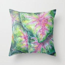 Tropical (Caladium Detail) Throw Pillow