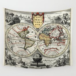 World Map 1758 Wall Tapestry