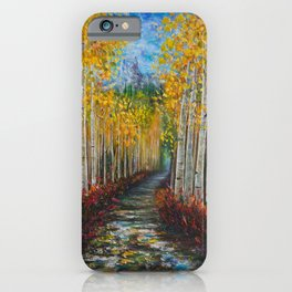 Nelly Creek painting of Uncompahgre National Forest iPhone Case