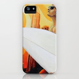 Goin' Surfin' by Michael Baker iPhone Case