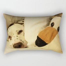 Dalmatian Tiger Nap Rectangular Pillow