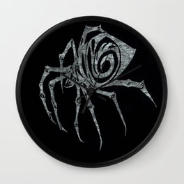 Spider in Reverse Wall Clock