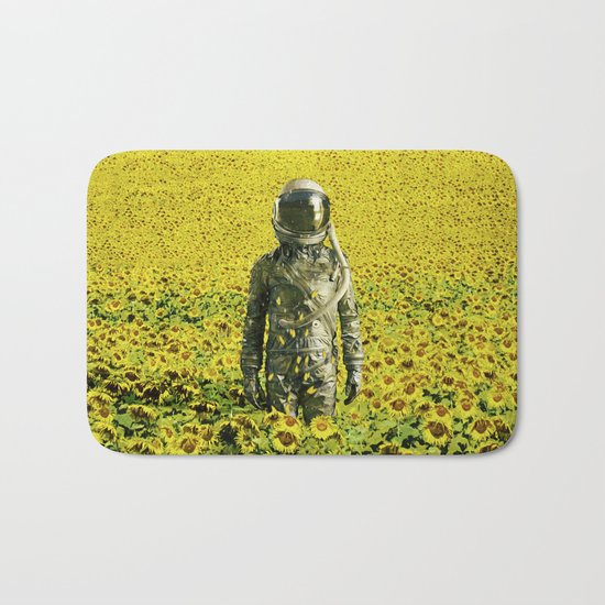 Stranded in the sunflower field Bath Mat