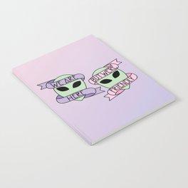 Friendly Aliens (in Unicorn) Notebook