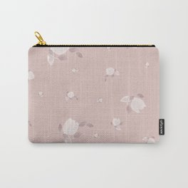 Watercolor Tulips on pastel pink background Carry-All Pouch