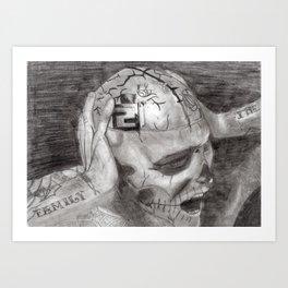 Zombie Boy- Rick Genest Art Print