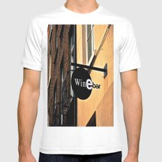 The Wine Bar MEDIUM Mens Fitted Tee White