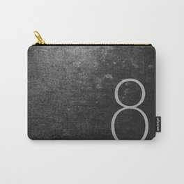 NUMBER 8 BLACK Carry-All Pouch