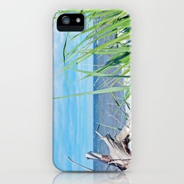 Through Grass and Driftwood iPhone Case