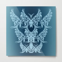 Indian Butterfly Enblem Metal Print