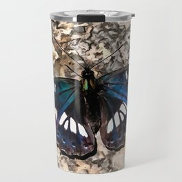 Southern White Admiral On Stone Butterfly Portrait Travel Mug