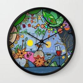 Man on a hamac Wall Clock
