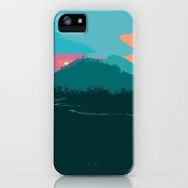 Harp's Hikes Sunset Logo iPhone Case