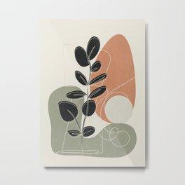 Minimal Abstract Shapes No.73 Metal Print