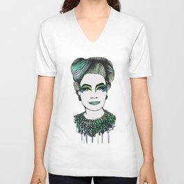 Emerald Mommy Dearest  Unisex V-Neck