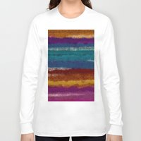 knit Long Sleeve T-shirts featuring Knit stripes by Selkiesong