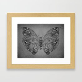 Butterfly skulls 4 Framed Art Print
