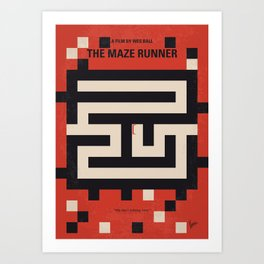 No837 My The Maze Runner minimal movie poster Art Print