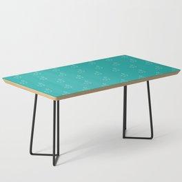 Baesic Llama Pattern (Teal) Coffee Table