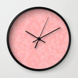 Pastel Millennial Pink Geometric Pattern Wall Clock
