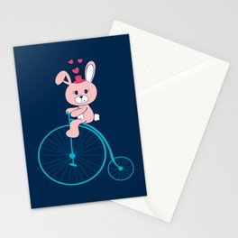 Bunnies Love Bikes Stationery Cards