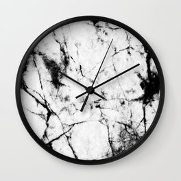 Marble Concrete Stone Texture Pattern Effect Dark Grain Wall Clock