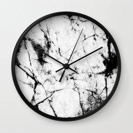 Marble Concrete Stone Texture Pattern Effect Dark Grain Wall Clock