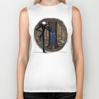 hallion Biker Tanks featuring What's This? What's This? by Karen Hallion Illustrations