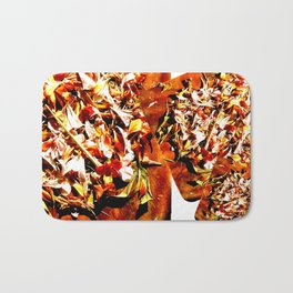 Flowers on a table 2 Bath Mat