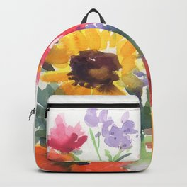 Sunny Summer Sunflowers Backpack