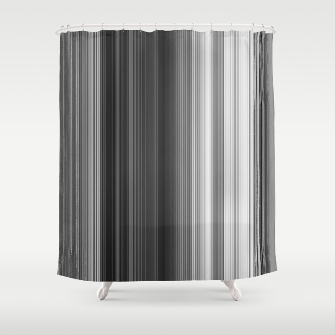 black white striped shower curtain. Abstract Black white Childrens and Pattern Shower Curtains Society6Abstract  And White Striped Curtain mDesign Mildew Free Water