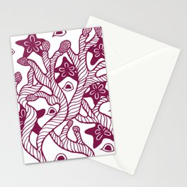 Seaweed, coral and starfish ornament Stationery Cards