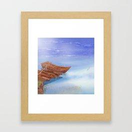 Perfect reflection of beautiful sky | Miharu Shirahata Framed Art Print