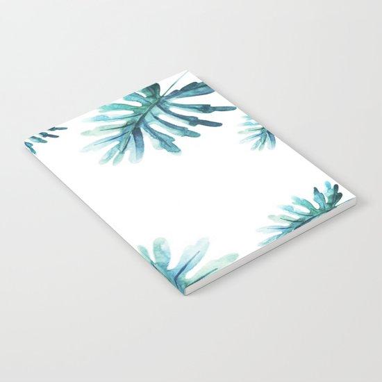 Watercolor botanic pattern Notebook