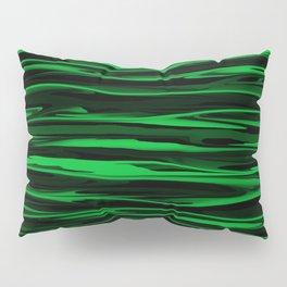 Apple Green Stripes Pillow Sham