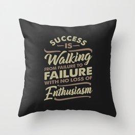 Success Is Walking - Motivational Throw Pillow