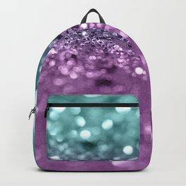 Aqua Purple MERMAID Girls Glitter #2 #shiny #decor #art #society6 Backpack