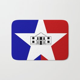 American cities-  Flag of San antonio Bath Mat