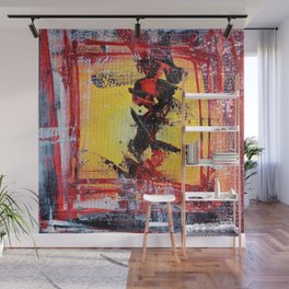 What the Hell - colorful abstract painting Wall Mural