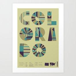 Typographic Colorado Art Print