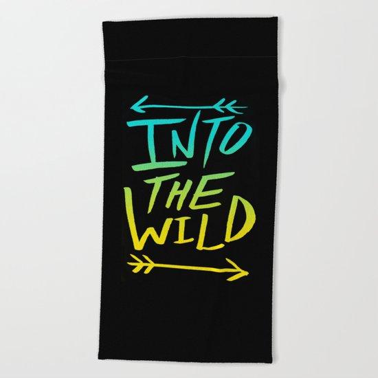 Into The Wild: Typography Beach Towel