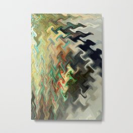 Abstract Melting IV Metal Print