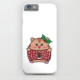 Hamster in a Holiday Sweater iPhone Case