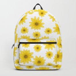 Sunflower Floral Pattern Backpack