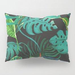 nigth tropical leaves Pillow Sham