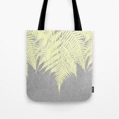 Concrete Fern Yellow Tote Bag